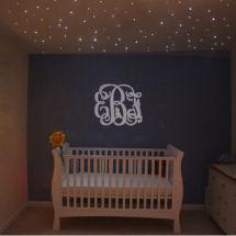 lighting for baby room. baby girl nursery with star ceiling lighting for room