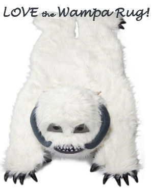 Star Wars themed baby nursery Wampa area rug