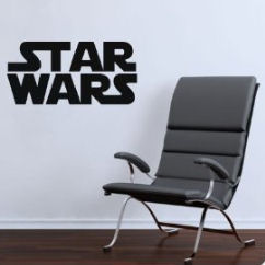 Stars Wars baby nursery chair and vinyl wall quote decal