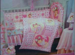 strawberry shortcake crib nursery bedding comforter set