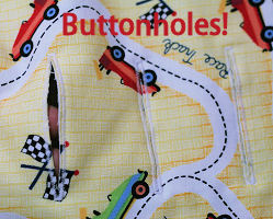 Proper placement of buttonholes or strap openings is a very important part of the stroller liner sewing pattern
