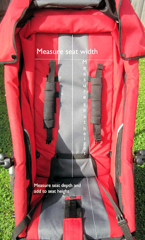 How to measure a baby stroller seat for a liner