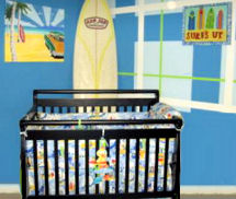 Surf theme baby nursery decor decorations