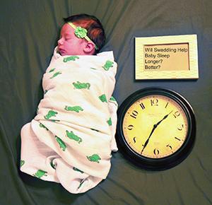 Baby swaddling swaddle blanket wrap technique sleep longer