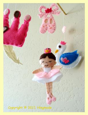 Dancing Bella the Ballerina Swan Lake Baby Crib Mobile