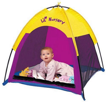 Mosquito proof beach sun tent canopy for a baby that has been UV treated SPF 30 with a breathable mesh ventilation panel.