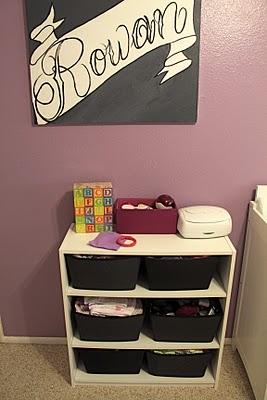 purple black and white tattoo baby girl nursery theme decor modern feminine