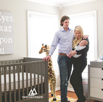 Modern grey and white Texas baby nursery theme ideas