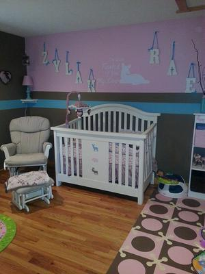 The Pink Forest Nursery Theme For Our Baby Girl