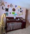 ABC Alphabet Baby Nursery Wall Arrangement for an Baby's Alphabet Theme Room