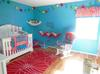Our baby boy's bright and colorful Cat in the Hat Nursery decor.