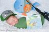 Adorable Baby Photo with a Curious George Fishing Theme