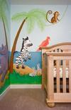 Hiding Bunnies to the side of Emma's Crib in her Jungle Animals Noah s Ark Nursery Room