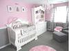 Pretty Pink and Gray Princess Nursery Room for a Baby Girl