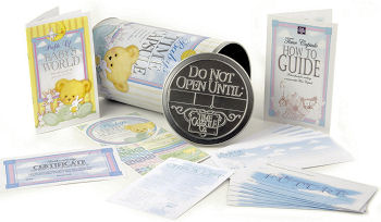 baby time capsule ideas contents memory boxes plaques