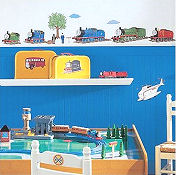 Thomas the Train baby nursery wall stickers and decals for a boys Thomas the Tank Engine room theme