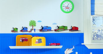 train wall strickers thomas the train wall decals wallpaper stickers wallies appliques