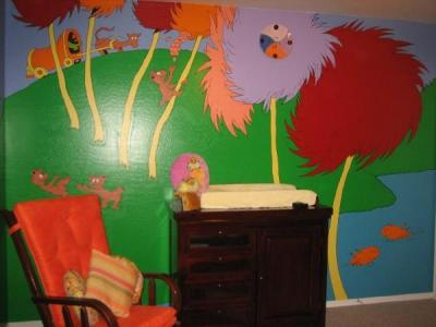 Eco Minded Nursery Wall Mural from Dr. Seuss' Lorax
