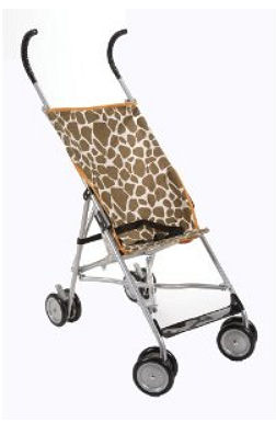 Cosco Lightweight umbrella stroller in giraffe print