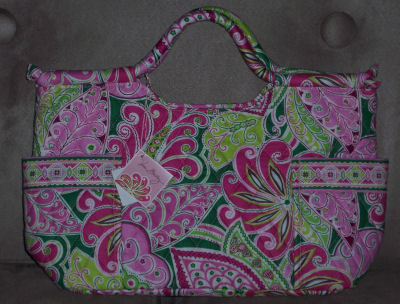 vera bradley pink pinwheel signature designer authentic bag purse