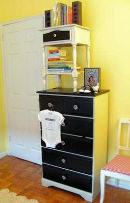 Vintage chic nursery ideas with repurposed furniture
