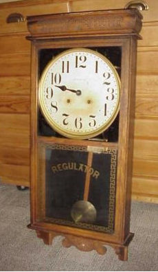 vintage ingram regulator wall clocks