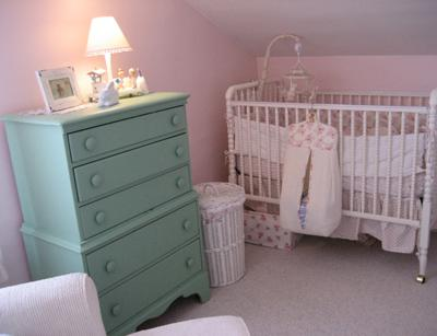 Vintage Pink and Aqua Inspired Nursery Theme for a Baby Girl