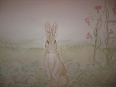 Vintage Peter Rabbit Mural by Jill, Antiquity Designs Atlanta