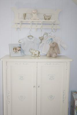 Vintage Antique White and Blue Safari Baby Nursery Theme and Decor