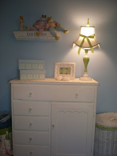 White cottage style nursery chest of drawers dresser