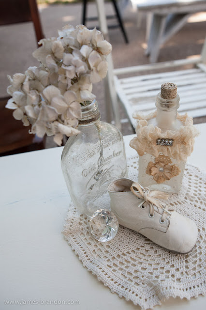 Vintage baby boy and girl shower