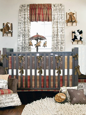 DIY Western baby nursery theme decorating ideas for a baby boy cowboy horse cow