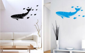 whale wall decals stickers appliques murals blue killer large