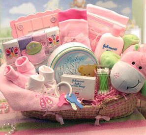 what to put in a baby gift basket ideas pictures