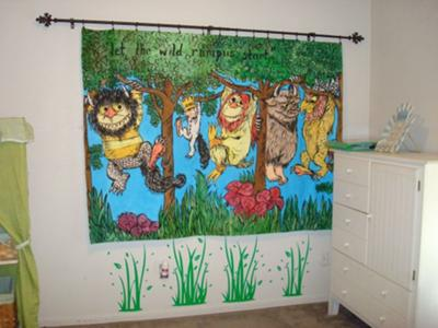 Baby Room Ideas on Where The Wild Things Are Baby Nursery Theme Wall Decorations