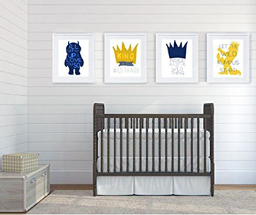 Where the Wild Things Are baby nursery theme items wall art prints