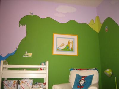Baby Seuss Nursery Wall Mural