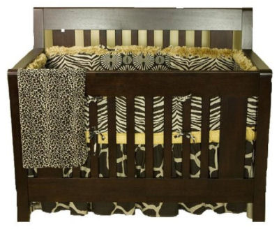 Wild Animal Print Baby Crib Nursery Bedding Giraffe Leopard Cheetah