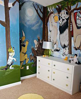 Where the Wild Things Are DIY wall mural painting