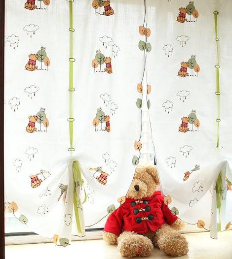 Classic Pooh Sheer Window Curtain - Compare Prices and Reviews on