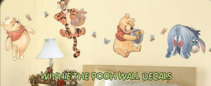 winnie the pooh baby nursery bedroom kids wall decals stickers large