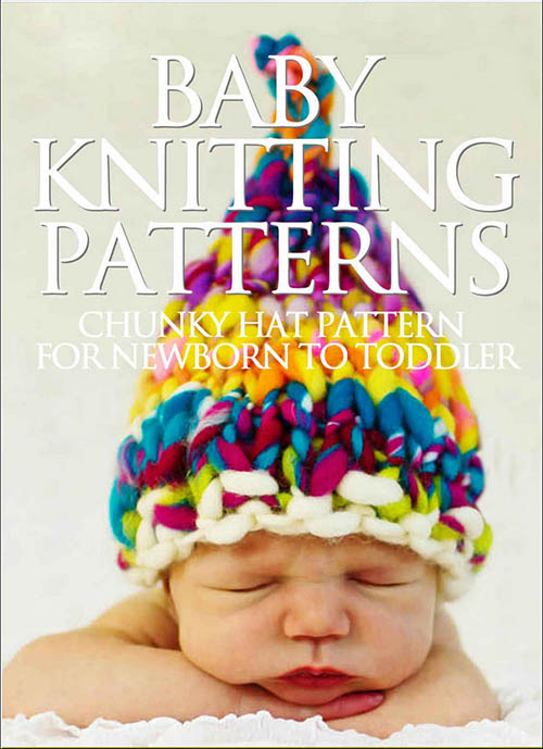 Quick n easy bulky chunky knit baby hat knitting pattern.  Newborn infant photo shoot photography prop ideas
