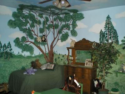 A Cozy Corner in our Baby's Woodland Wonderland Nursery Theme
