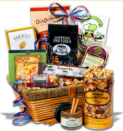 Gourmet gift basket suitable for any special occasion.