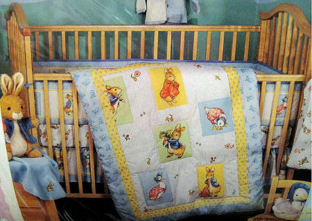 Classic Bunny Beatrix Potter Peter Rabbit Baby Nursery Crib Bedding Set