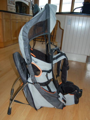 Silver and Charcoal Color SNUGLI CROSS TERRAIN BABY CARRIER BACKPACK