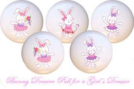Beatrix Potter Peter Rabbit Baby Bunny Nurser Dresser Drawer Pulls and Knobs