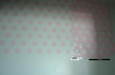 Reusable polka dot stencil pattern.
