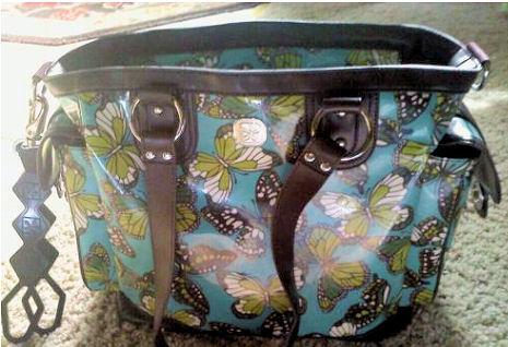 Butterfly Fleurville Baby Diaper Bag