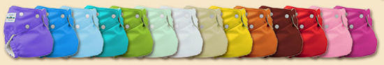 The many colors of FuzziBunz Cloth Diapers